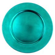 "13"" Turquoise  Plastic Charger"