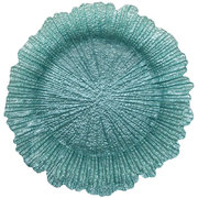 Reef Turquoise  Glass Charger