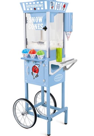 Snow Cone Machine & Vintage Cart w/Supplies for 50 Guests