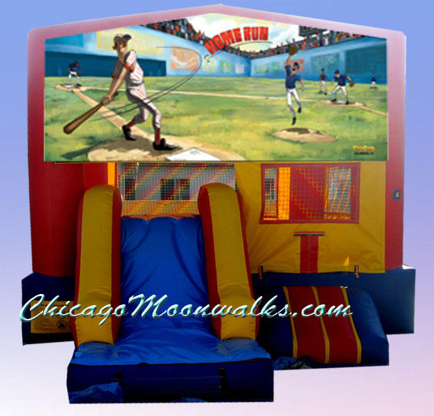 Baseball Theme 3 in 1 Combo Bounce House Rental in Chicago