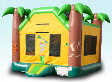 Luau Tropical Jungle Combo Bounce House Rental Chicago