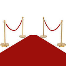 Red Ropes with Red Carpet