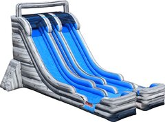 Double Lane Big Splash Stone Water Slide
