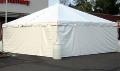 20' X 7' Solid Tent Side For Pole Tent