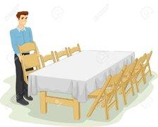 Each Table Set Up