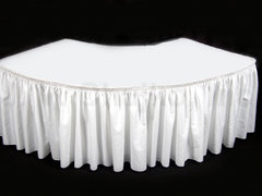 Serpentine Table Skirt