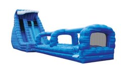 27' Blue Crush Double Lane Splash Combo Water Slide
