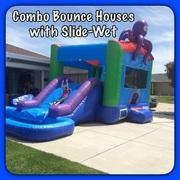 Combo Bounce Houses with Slide-Wet
