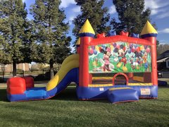 Mickey Mouse Party Castle Combo with Slide Dry