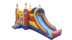Birthday Bash Combo Bounce House with Slide Wet