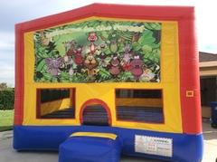Jungle Animals Bounce House (Module Plus)