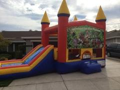 Jungle Animals Castle Combo with Slide Wet