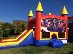 Superheroes Castle Combo with Slide Wet