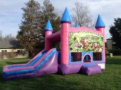 Jungle Animals Castle Combo Pink with Slide Wet