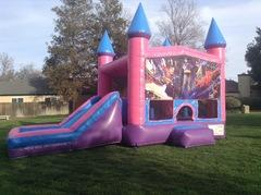 Superheroes Castle Combo Pink with Slide Wet