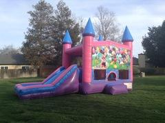Mickey Mouse Party Castle Combo Pink with Slide Wet