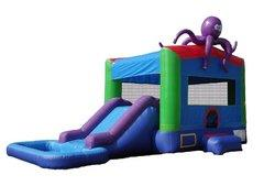 Octopus Combo Bounce House with Slide Wet