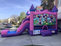 Mickey Mouse Party Pink Castle Combo with Slide Wet