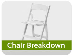 Chair Breakdown Fee - Each Chair