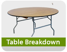 Table Breakdown Fee - Each Table