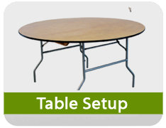 Table Setup Fee - Each Table