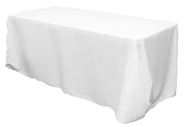 Table Linens White - 8' Rectangle