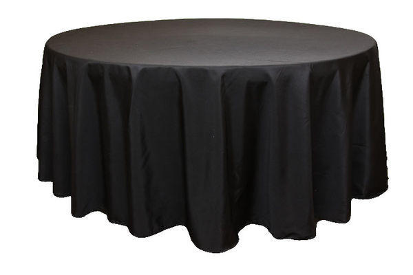Round Black Table Linen