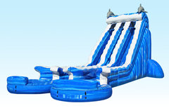 22 ft. Dual Lane Water Slide<font color = red> NEW! </font>