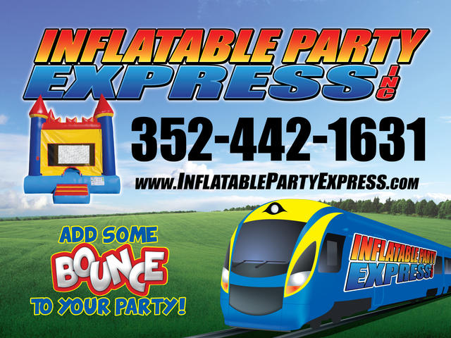 Blue Tropical Combo With Pool Inflatable Party Express