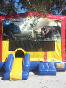 Dinosaur Bounce House with Mini Slide