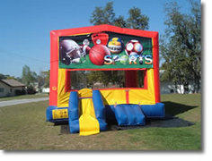 Sports  Bounce House with Mini Slide
