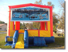 Street Car  Bounce House with Mini Slide