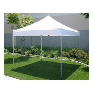 10' x 10' Commercial Strength Pop Up Tent Set up on any surface