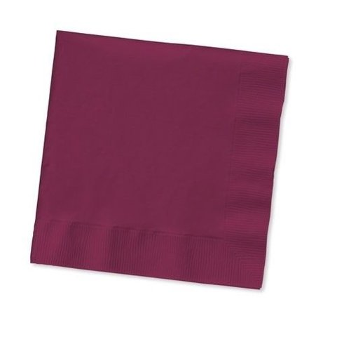 Burgundy Bev Lunch Napkins