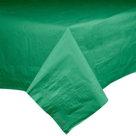 Emerald Green Paper Rectangle Tablecover