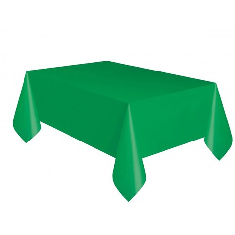 Emerald Green Plastic Rectangle Tablecover