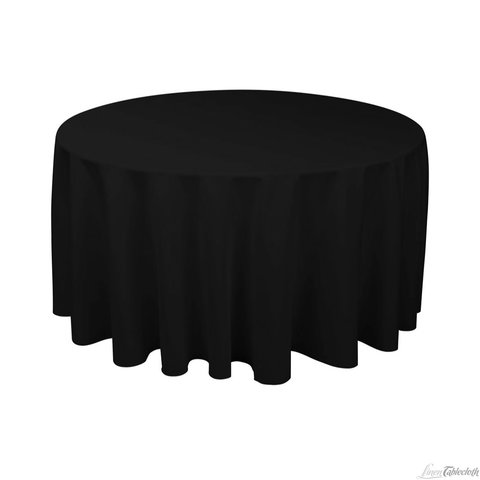 Linen Tablecloth round BLACK 120