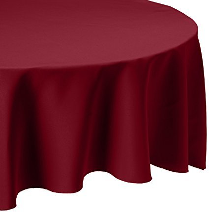 Linen Tablecloth round Burgundy 108