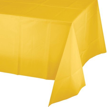 School Bus Yellow Plastic Rectangle Tablecover