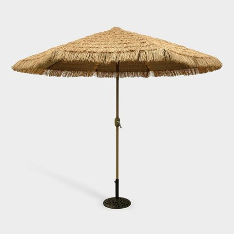 Umbrella with Pole and Thatching