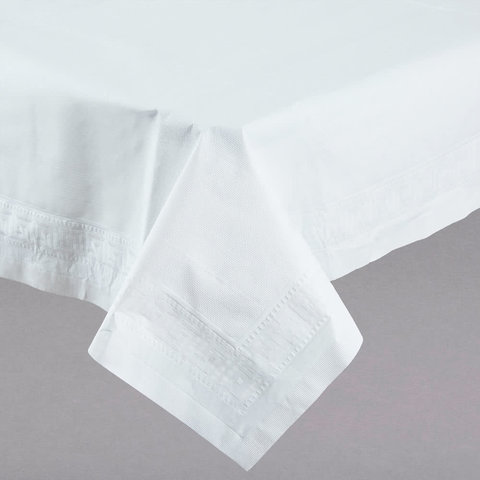White paper tablecloth