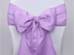 Chair Sash Satin - Lavender