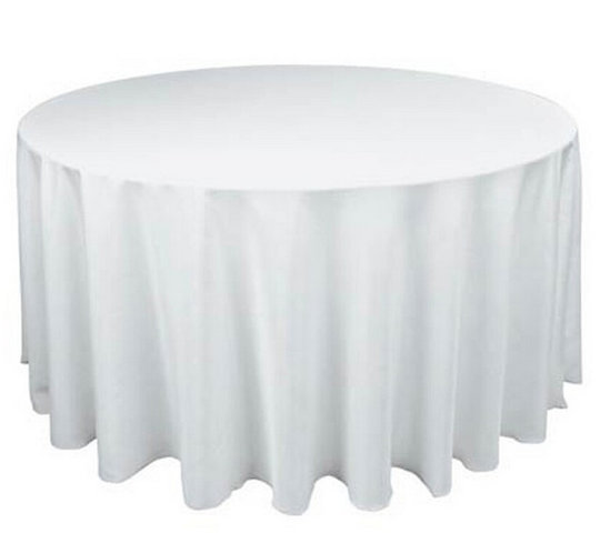 Linen Tablecloth round white 108''