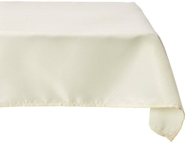 Linen Tablecloth rectangular Ivory 60x102