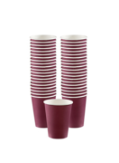 Burgundy Paper Cups