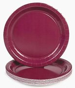 Burgundy Paper Plates