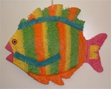 """Orange"" Fish Pinata"