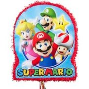 Ribbon Pull Mario Bros Outline pinata