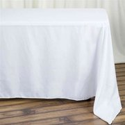 90x132 Table cover white polyester
