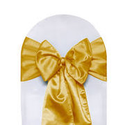 Chair Sash Satin -Gold